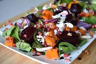 Fresh pumpkin salad