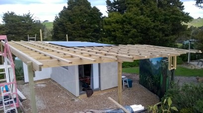 Roof rafters completed